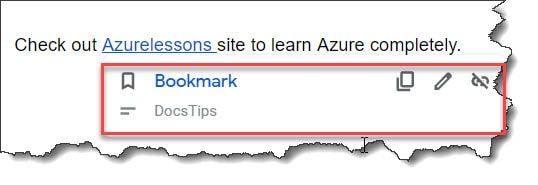 Hyperlink to a bookmark in Google Docs