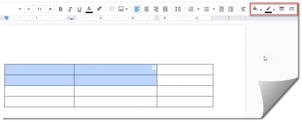 Style A Cell In A Table On Google Docs