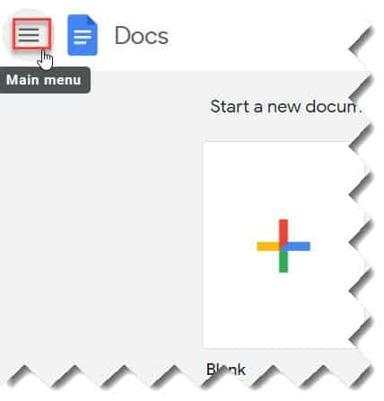 Change Google Docs Menu Language