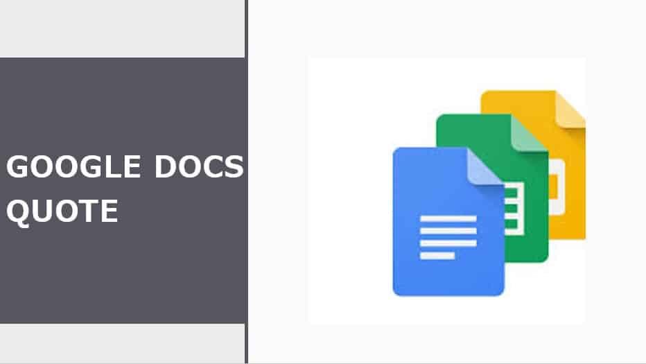 Google Docs Quote