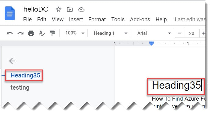 How To Update Document Outline In Google Docs