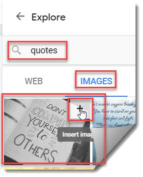 How to add Famous Quote in Google Docs