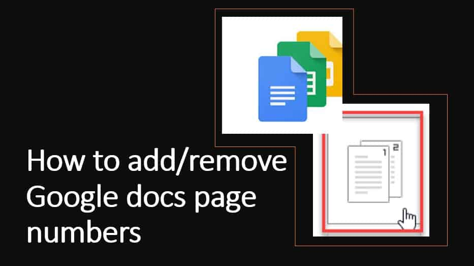 How to add or remove Google docs page numbers