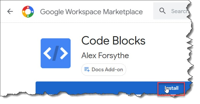 How to format code in Google docs