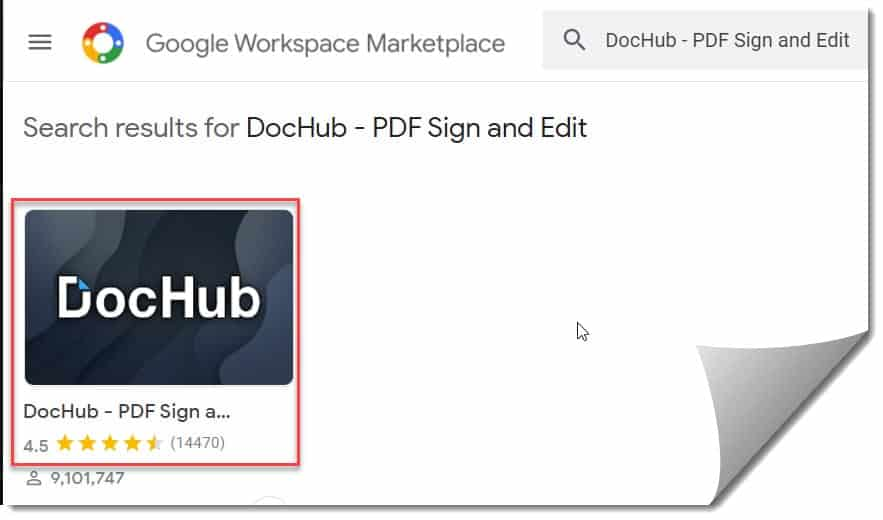 Sign PDF document in Google Docs