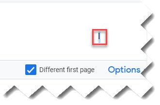 Steps to Insert Roman Numeral Page Numbers Google Docs