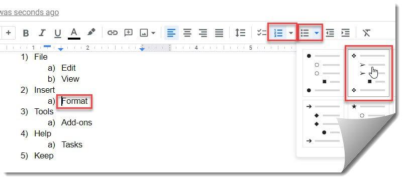 Customize A Multilevel List In Google Docs