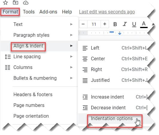 Google Docs Bullet Points Indent