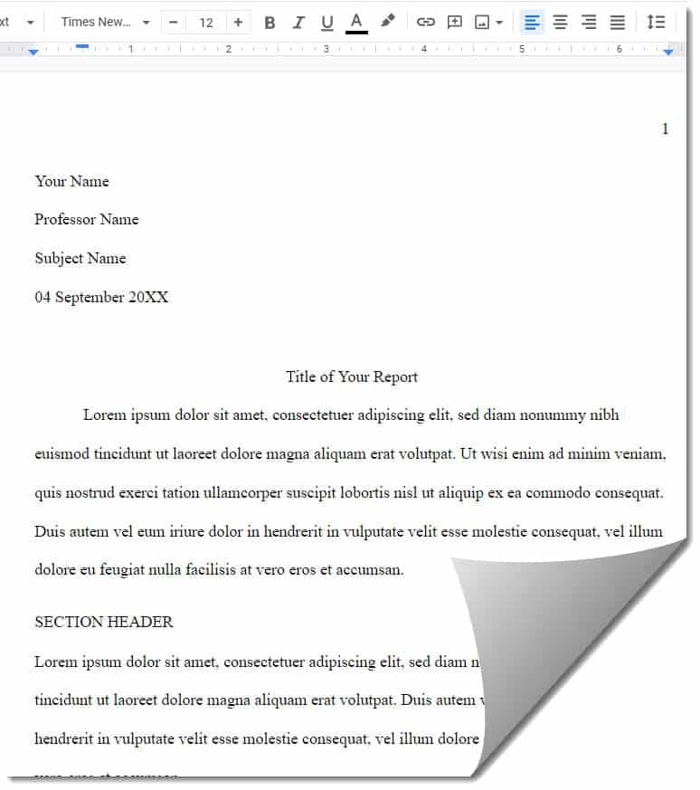 Google Docs MLA Outline Template