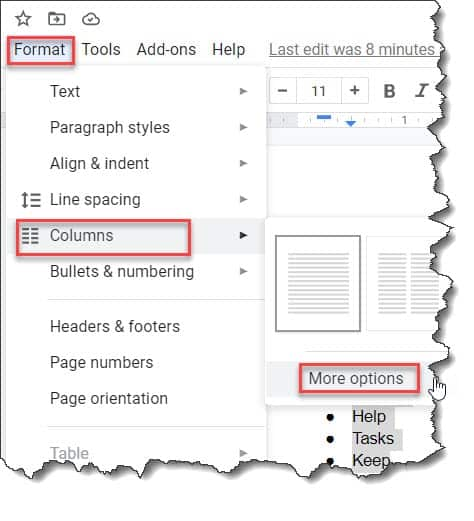 How To Add Bullet Points Side By Side Google Docs