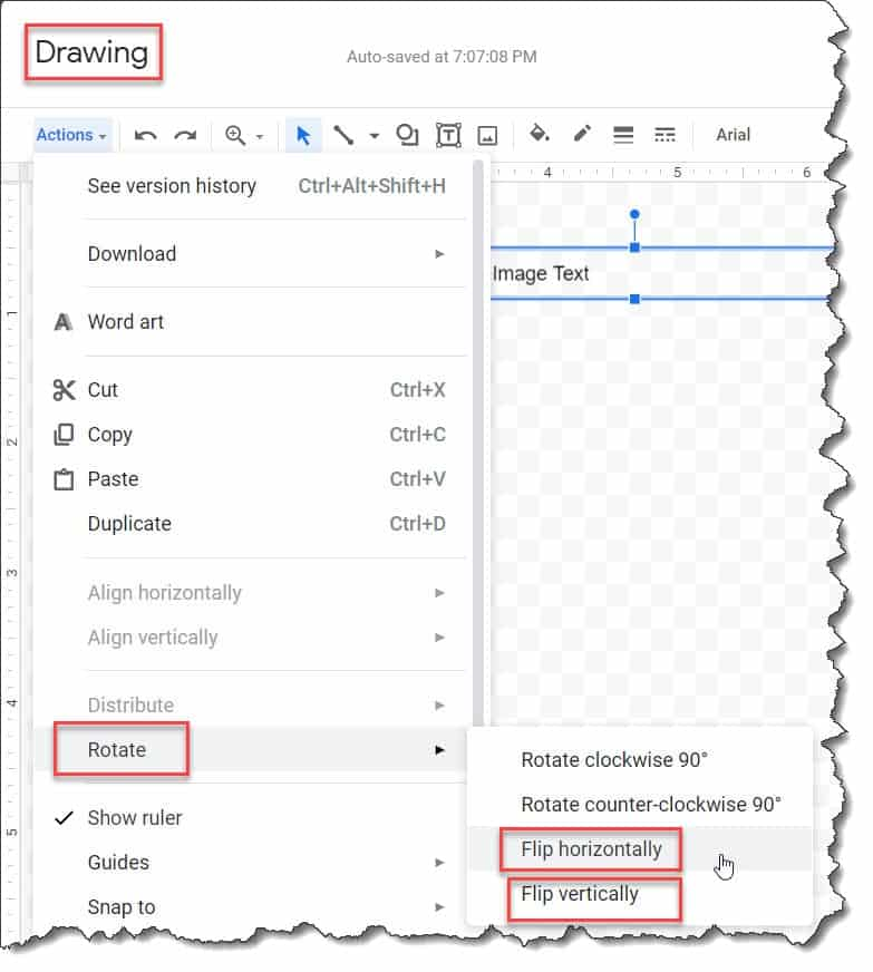 How To Flip Text In Google Docs