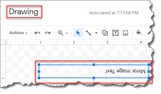 How To Flip a Text In Google Docs