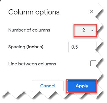 How To Put Bullet Points Side By Side Google Docs