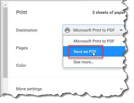 How To Use Print Feature To Save Google Doc As PDF