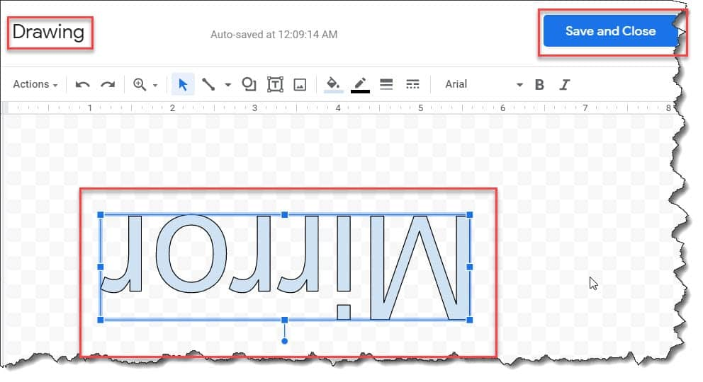 How to Reverse a Text image on Google Docs