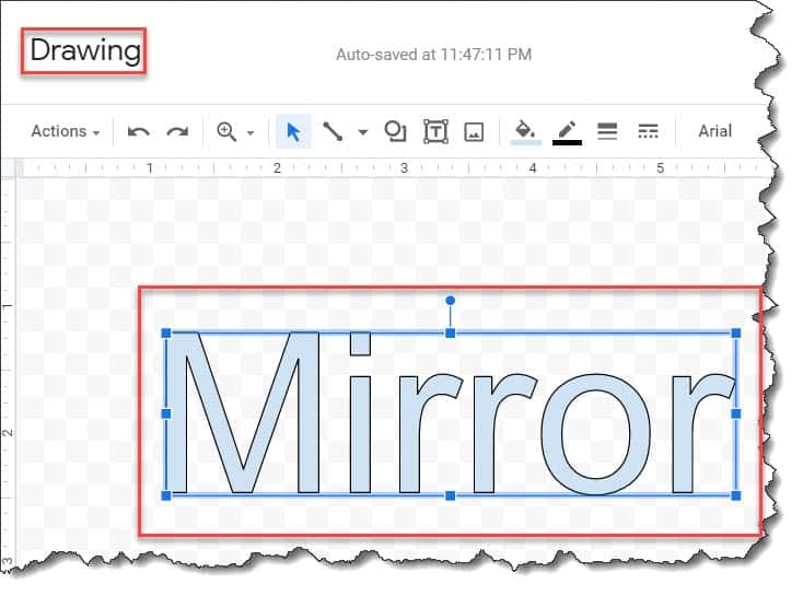 How to Reverse or Mirror Text on Google Docs