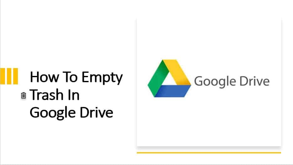 How to empty trash in Google Drive