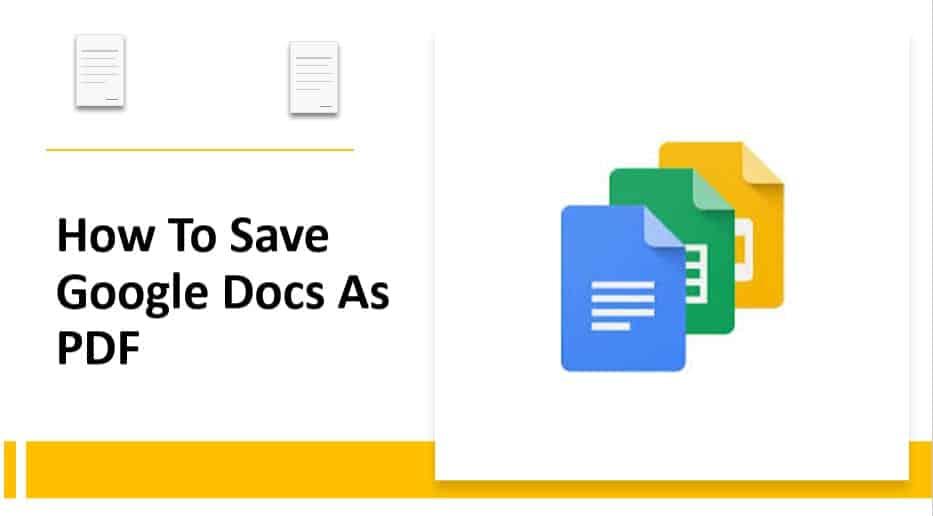 How to save Google docs as pdf