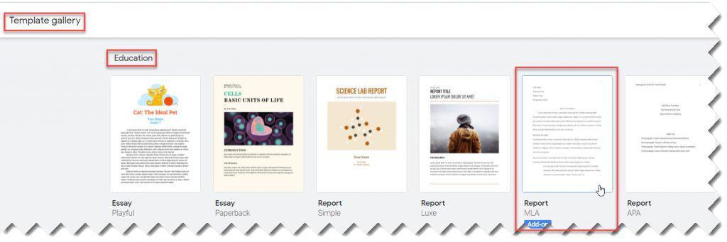 MLA Outline Template in Google Docs