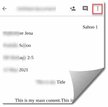convert Google docs to PDF on Android