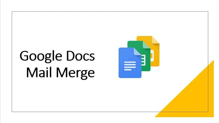 Google Docs Mail Merge