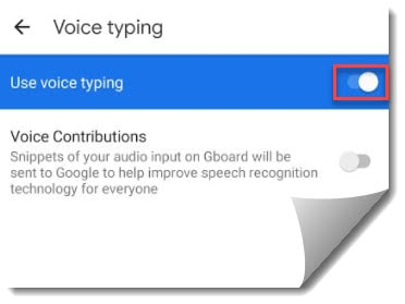 Google Docs Voice Typing Not Working on Android