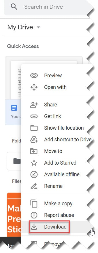 How Do I Save A Document From My Google Drive To My Desktop