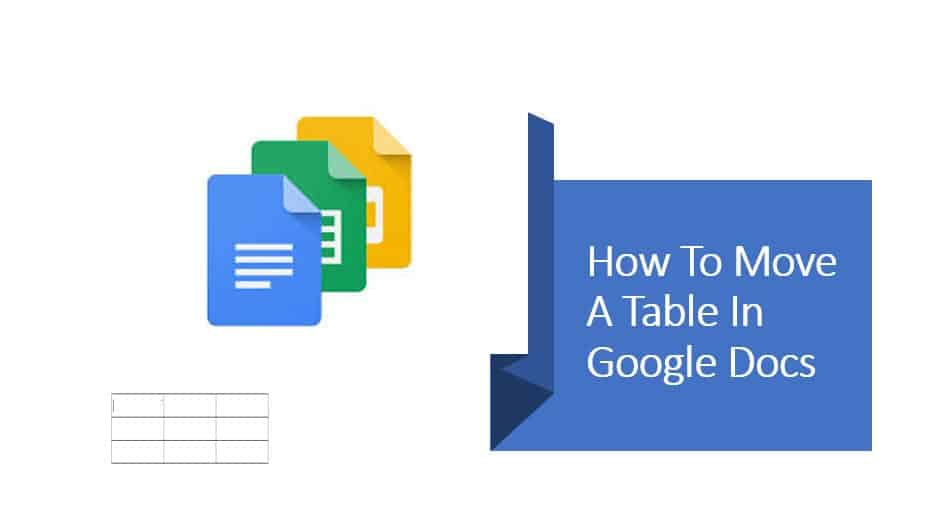 How To Move A Table In Google Docs