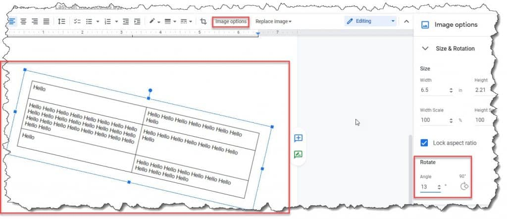 How To Rotate Table In Google Docs