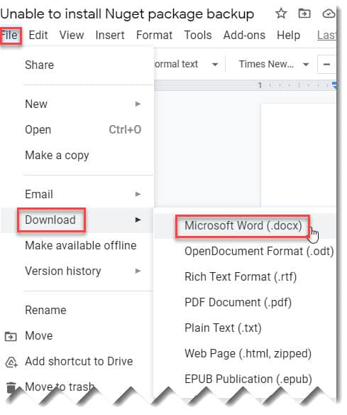 How To Save A File From Google Docs To Desktop