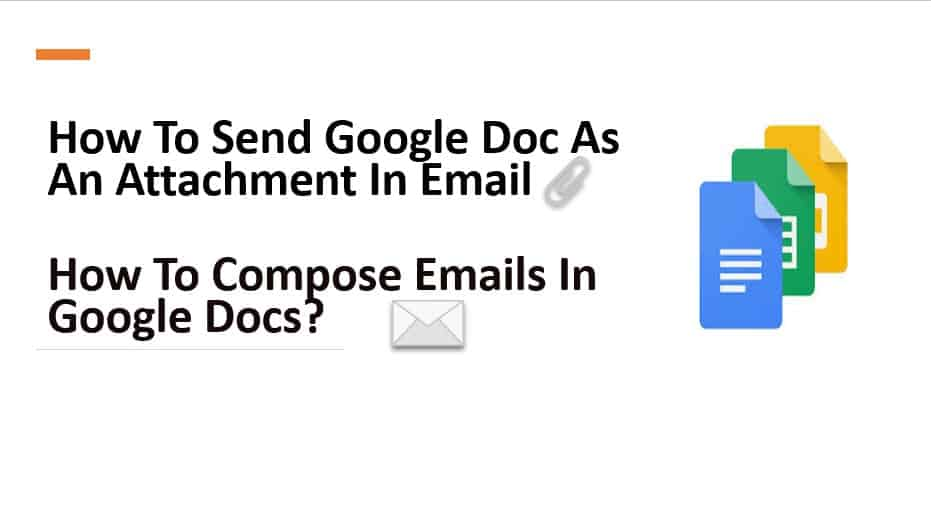 How To Send Google Doc As An Attachment In Email