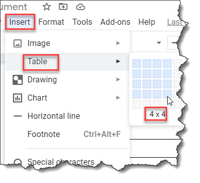How to Put Two Tables Side by Side Google Docs