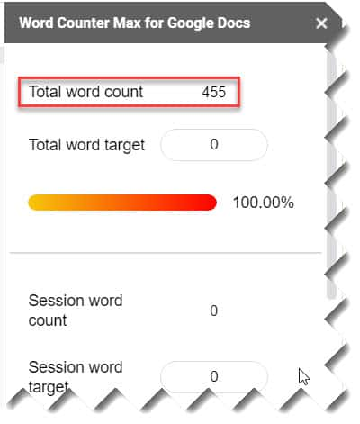 How to check word count on Google Docs using Word Counter Max