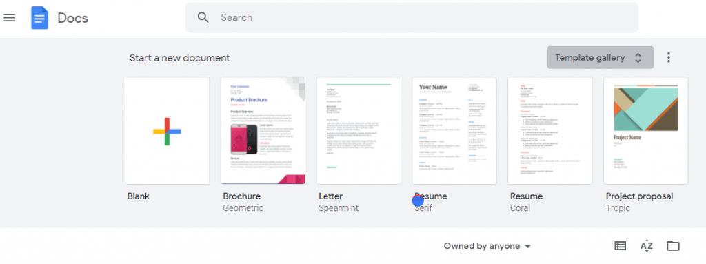 How to create a Google Docs template using existing templates
