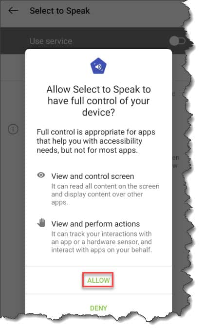 How to enable Google text-to-speech on Android