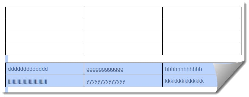 How to insert a page break in the Google Docs table