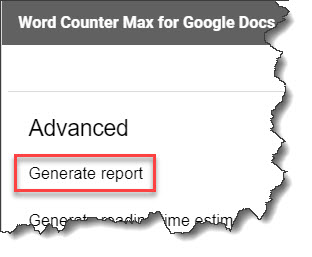 How to use Word Counter Max add-on in Google Docs