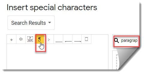 Insert Paragraph Symbol In Google Docs