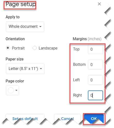 Make Table Fit Page In Google Docs