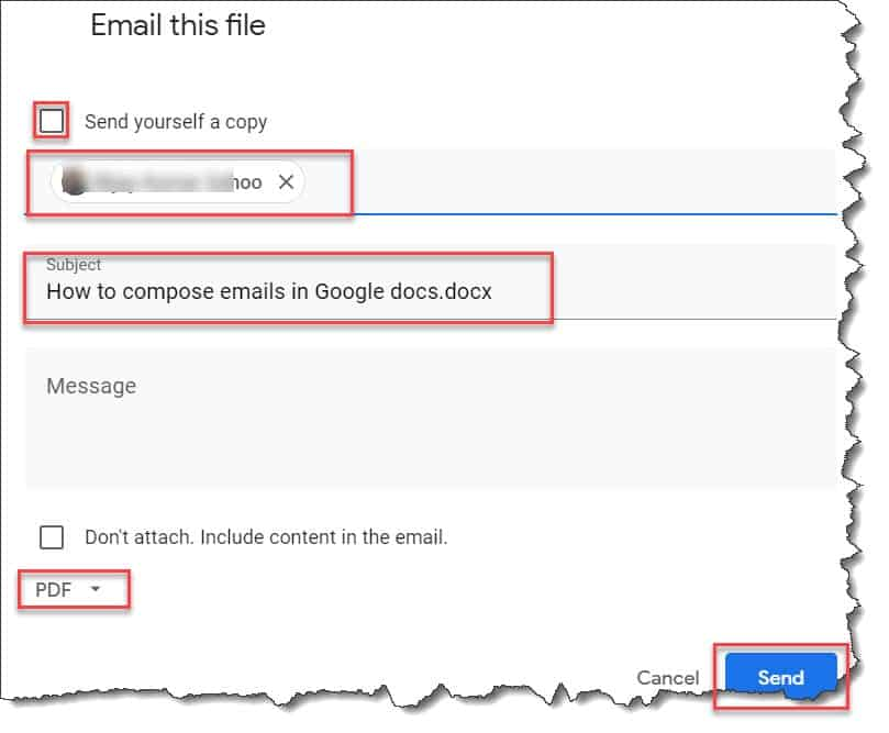 how to attach a doc to an email