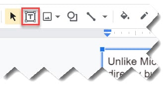 how to wrap text in google slide