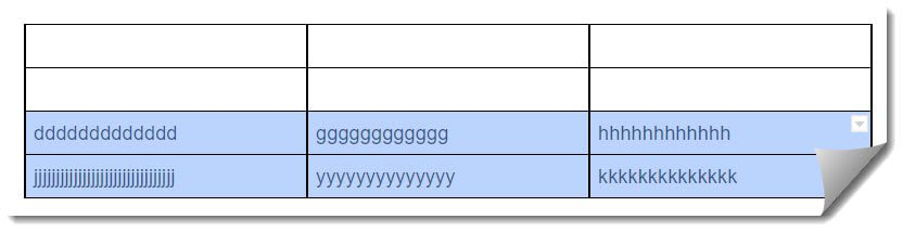 insert a page break in the Google Docs table