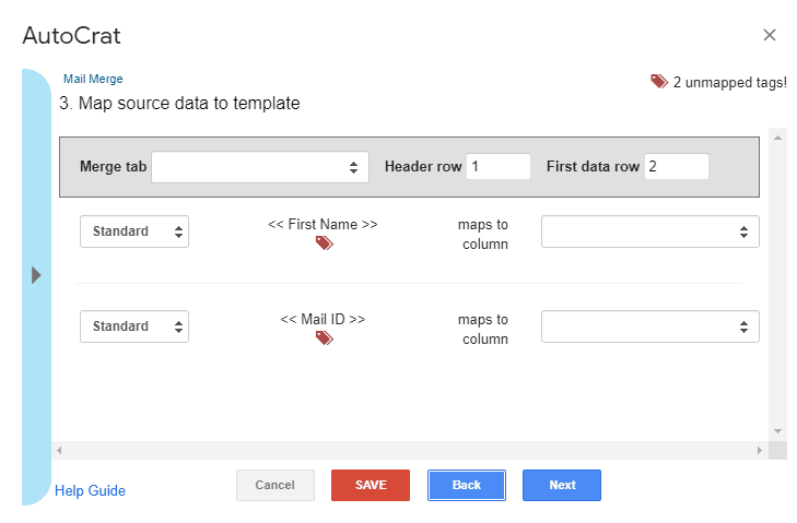 mail merge in google docs 2020