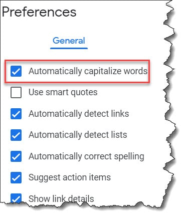 Google Docs Capitalize First Letter Of Sentence