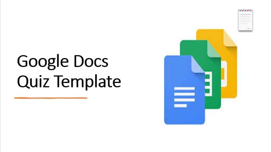 Google Docs Quiz Template