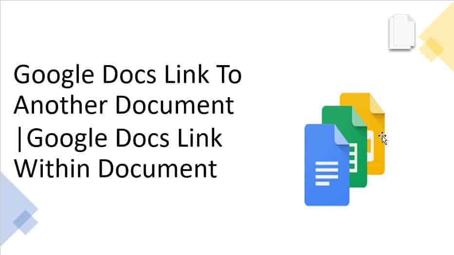 Google docs link to another document | Google docs link within document