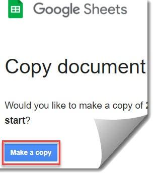 Google sheet calendar template 2021