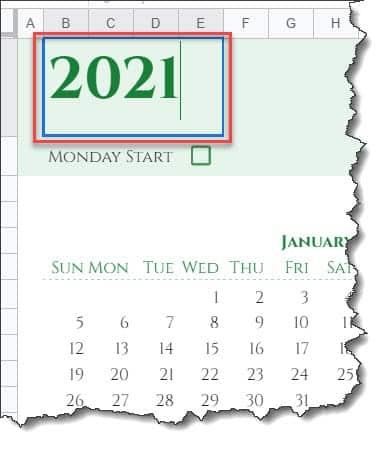 Google sheet calendar template 2022