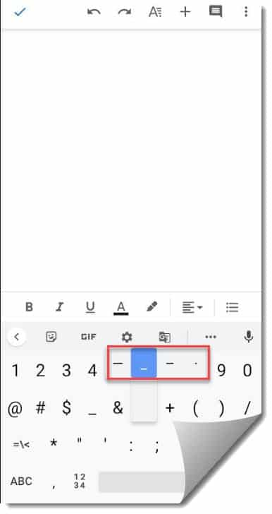 How To Make Em Dash In Google Docs on Android or iOS