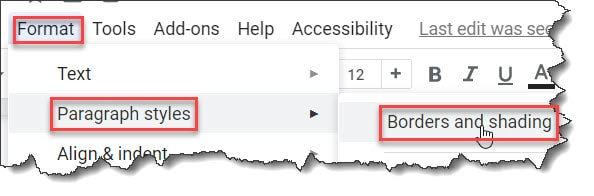 How do you underline red in Google Docs?